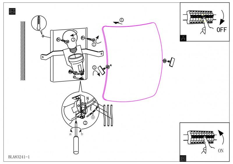 Электрическая схема монтажа точечных светильников.