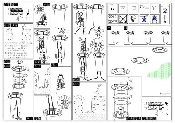 Схема установки светильника на